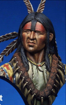 Blackfoot Warrior Bust, 1845