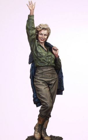 Marilyn Monroe in Korea for her USO tour 1954 (1/35 scale)