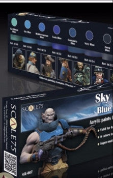 Sky and Ice BLUE Paint Set