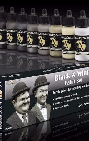 Black and White Paint Set