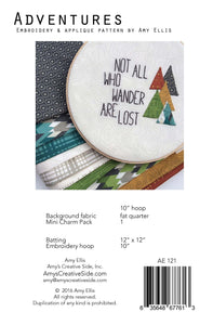 Adventures Embroidery and Applique Pattern by Amy Ellis - AmysCreativeSide.com