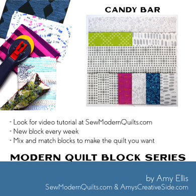 Candy Bar Quilt Block Pattern
