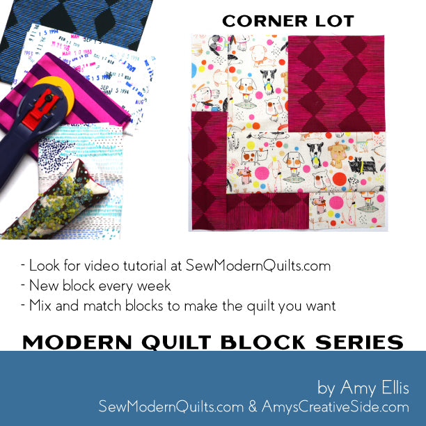 Corner Lot Quilt Block Pattern