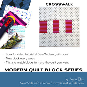 Crosswalk Quilt Block Pattern
