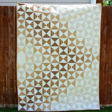Dimensions in Tan {Handmade Quilt by Amy Ellis}