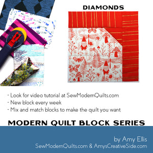 Diamonds Quilt Block Pattern