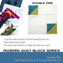 Double Time Quilt Block Pattern