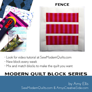 Fence Quilt Block Pattern