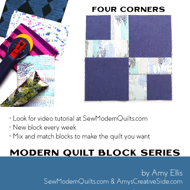 Four Corners Quilt Block Pattern