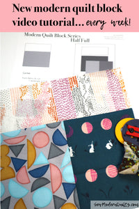 Half Full Quilt Block Pattern