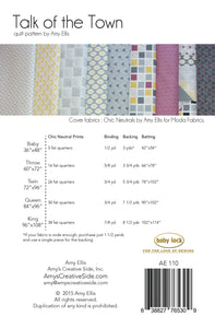 Talk of the Town PDF Quilt Pattern