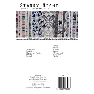 Starry Night Quilt Pattern by Amy Ellis