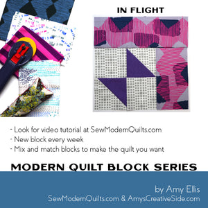 In Flight Quilt Block Pattern