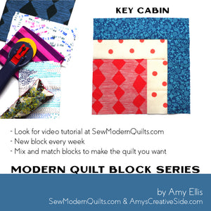 Key Cabin Quilt Block Pattern