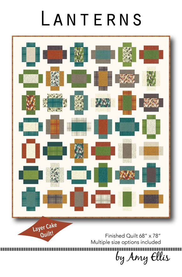 Lanterns Quilt Pattern by Amy Ellis - AmysCreativeSide.com