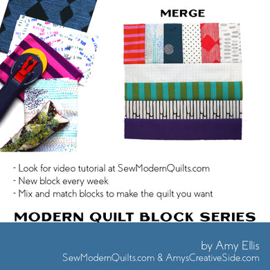 Merge Quilt Block Pattern