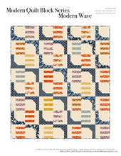 Modern Waves PDF Quilt Pattern