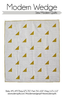 Modern Wedge Quilt Pattern