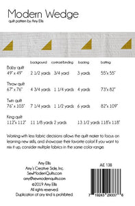 Modern Wedge PDF Quilt Pattern