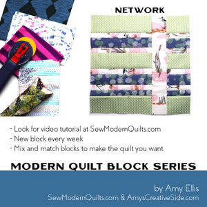 Network Quilt Block Pattern