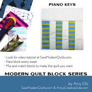 Piano Keys Quilt Block Pattern