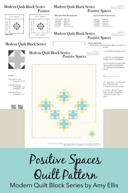 Positive Spaces PDF Quilt Pattern