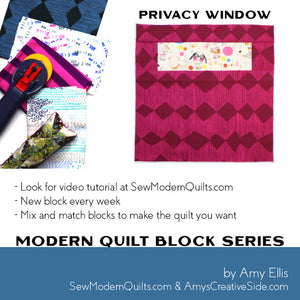 Privacy Window Quilt Block Pattern