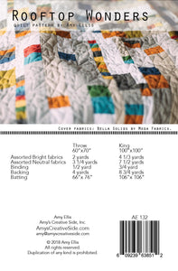 Rooftop Wonders Quilt Pattern -- Wholesale