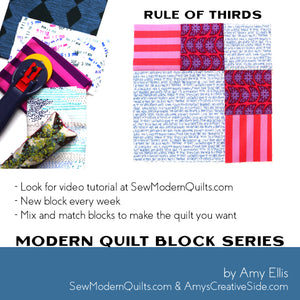 Rule of Thirds Quilt Block Pattern