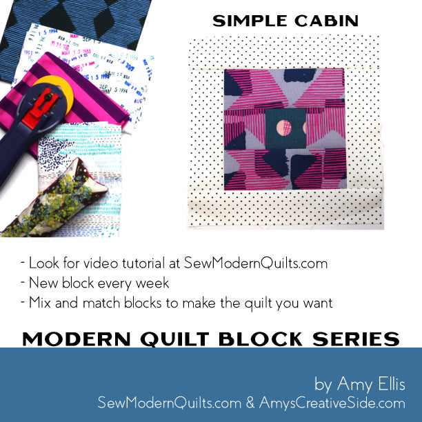 Simple Cabin Quilt Block Pattern