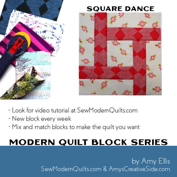Square Dance Quilt Block Pattern
