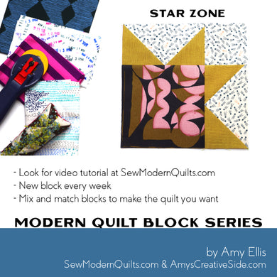 Star Zone Quilt Block Pattern