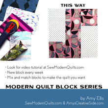 This Way Quilt Block Pattern