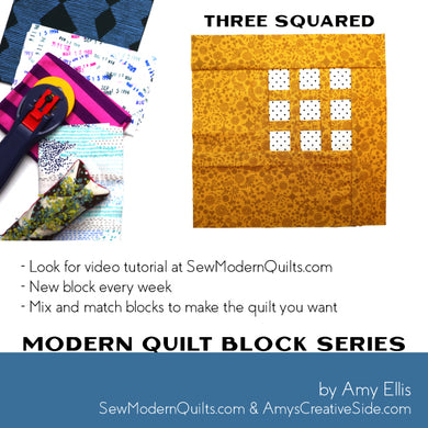 Three Squared Quilt Block Pattern