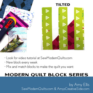 Tilted Quilt Block Pattern