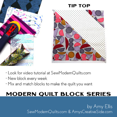 Tip Top Quilt Block Pattern