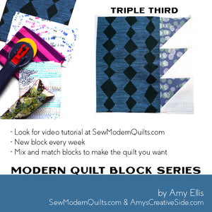 Triple Third Quilt Block Pattern