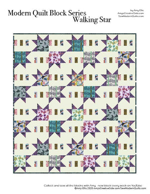 Walking Star PDF Quilt Pattern