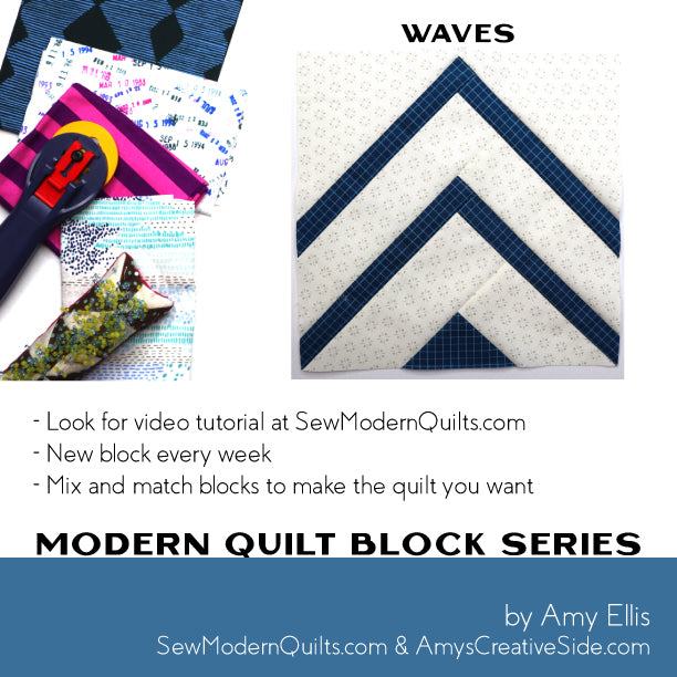 Waves Quilt Block Pattern