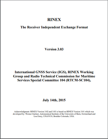 _RINEX: The Receiver Independent Exchange Format Version 3.03, 14 July 2015