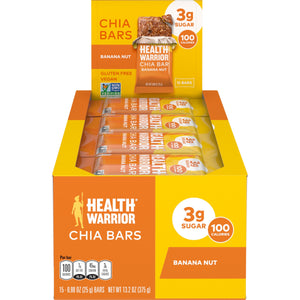 Health Warrior Chia Bars, Banana Nut, 15 Bars