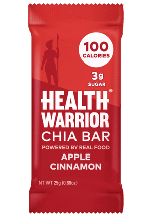 Health Warrior Chia Bars, Apple Cinnamon, 1 Bar