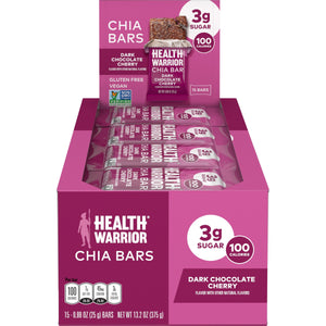 Health Warrior Chia Bars, Dark Chocolate Cherry, 15 Bars