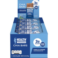 Health Warrior Chia Bars, Vanilla Almond, 15 Bars