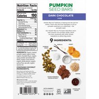 Health Warrior Pumpkin Seed Bars, Dark Chocolate, 12 Bars