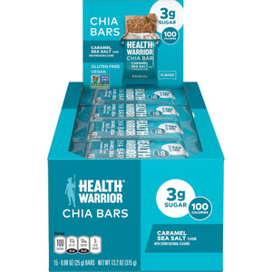 Health Warrior Chia Bars, Caramel Sea Salt , 15 Bars