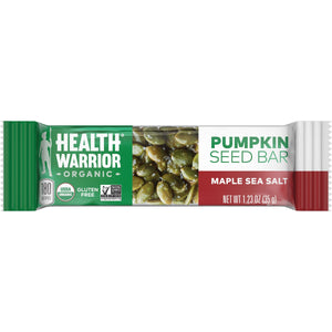 Health Warrior Pumpkin Seed Bars, Maple Sea Salt, 12 Bars