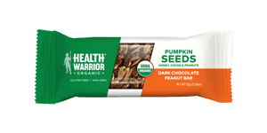 Health Warrior Pumpkin Seed Bars, Dark Chocolate Peanut, 1 Bar
