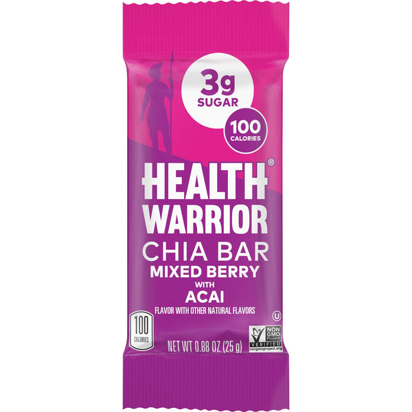 Health Warrior Chia Bars, Rainbow Variety Pack, 15 bars