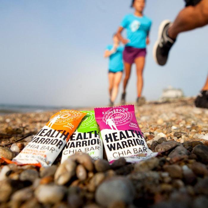 Chia bars and people running